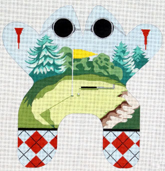 Large Golf Frog    (handpainted by Eddie and Ginger Designs)