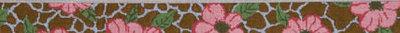 Giraffe / Poppy Belt (Handpainted by Voila)