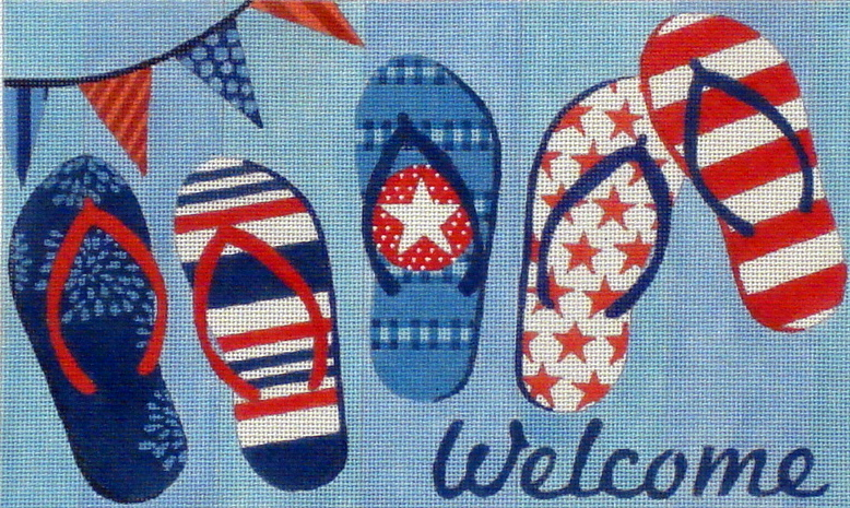 Flip Flops Welcome Sign (Handpainted by Maggie Co.)