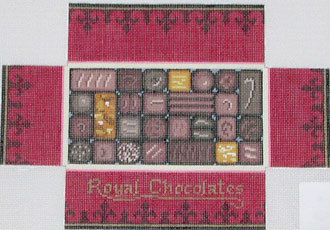 Box of Chocolates Brick Cover (Hand painted canvas by Susan Roberts designs)