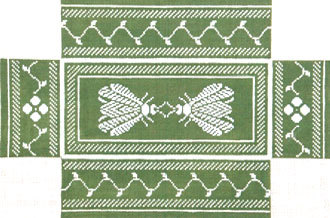 Napolean Bee Brick Cover (Green/Silver) (Handpainted by Whimsy & Grace Designs)
