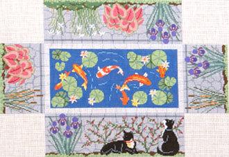 Koi Pond Brick Cover    (handpainted by Susan Roberts)