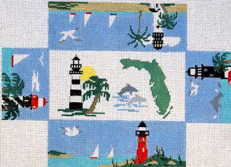 Florida Brick Cover (Handpainted by Kathy Schenkel Designs)