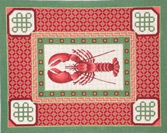Lobster with Spicy Border     (Handpainted by JP Needlepoint Designs)