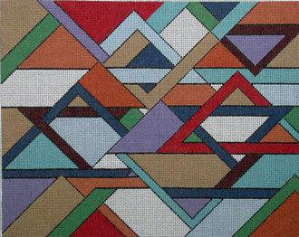 Abstract Stars Tallis Bag   (Handpainted by Aviva Designs)