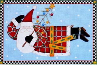 Joyous Tidings Santa Pillow   (handpainted from Melissa Shirley)