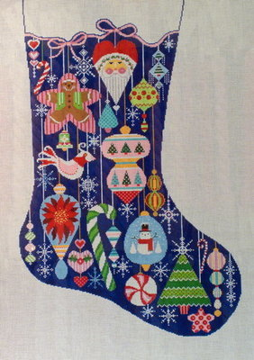 Happy Holiday Ornament Stocking (Handpainted by Shelly Tribbey Designs)