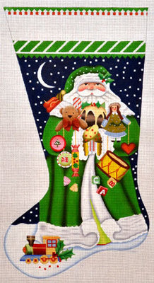 Toyland Santa Stocking     (handpainted by Melissa Shirley)