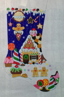 Holiday Sweets Stocking    (Handpainted from Shelly Tribbey Designs)