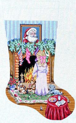 Cookies for Santa (Girl Stocking)  (handpainted from Gayla Elliott))