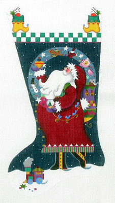 Magic Santa Stocking    (handpainted from Melissa Shirley)