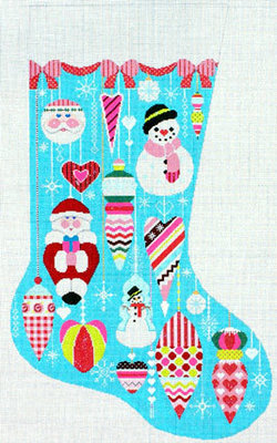 Glitzy Ornament Stocking (Handpainted from Shelly Tribbey Designs)
