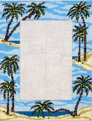 Palm Tree Picture Frame    (Needle Crossing)