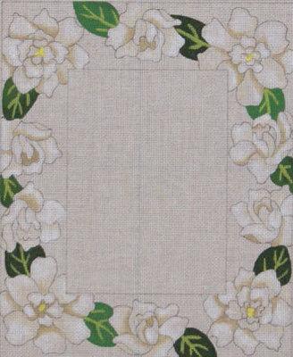 Gardenia Picture Frame     (Handpainted by Julie Mar Designs)