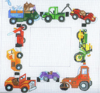 Cars & Trucks Picture Frame   (hand painted from The Merideth Collection)