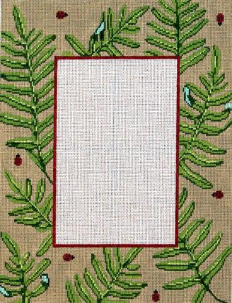 Fern & Lady Bugs Picture Frame (Handpainted by Gayla Elliott Designs)