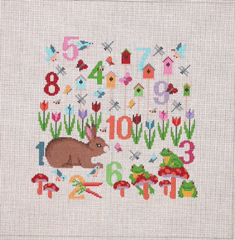 Number Garden     (handpainted by Susan Roberts)