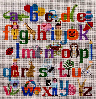 Alphabet with Characters / Wall Hanging   (handpainted by Susan Roberts)
