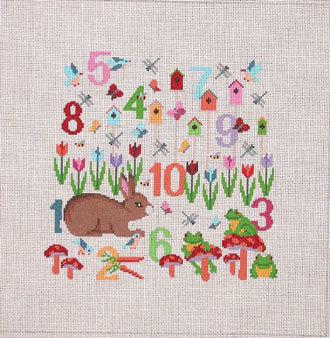Number Garden     (handpainted by Susan Roberts)
