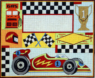 Race Car Birth Announcement   (Handpainted by Alice Peterson Company)