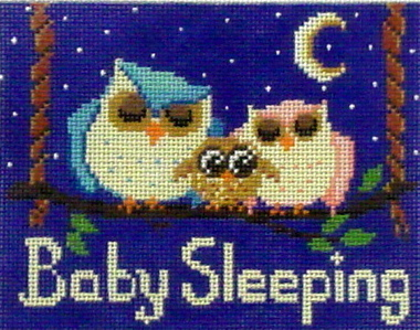 Baby Sleeping Owls   (Handpainted by Alice Peterson dDesigns)
