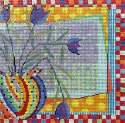 Still Life   (Hand painted needlepoint canvas by Penny McLeod)