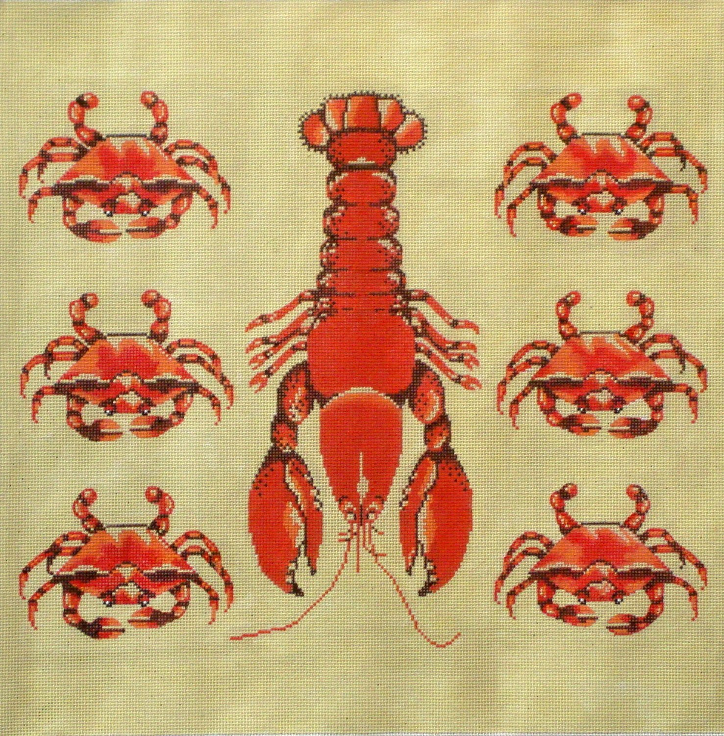 Lobster and Crabs  (Exclusive to Needlepoint Alley)