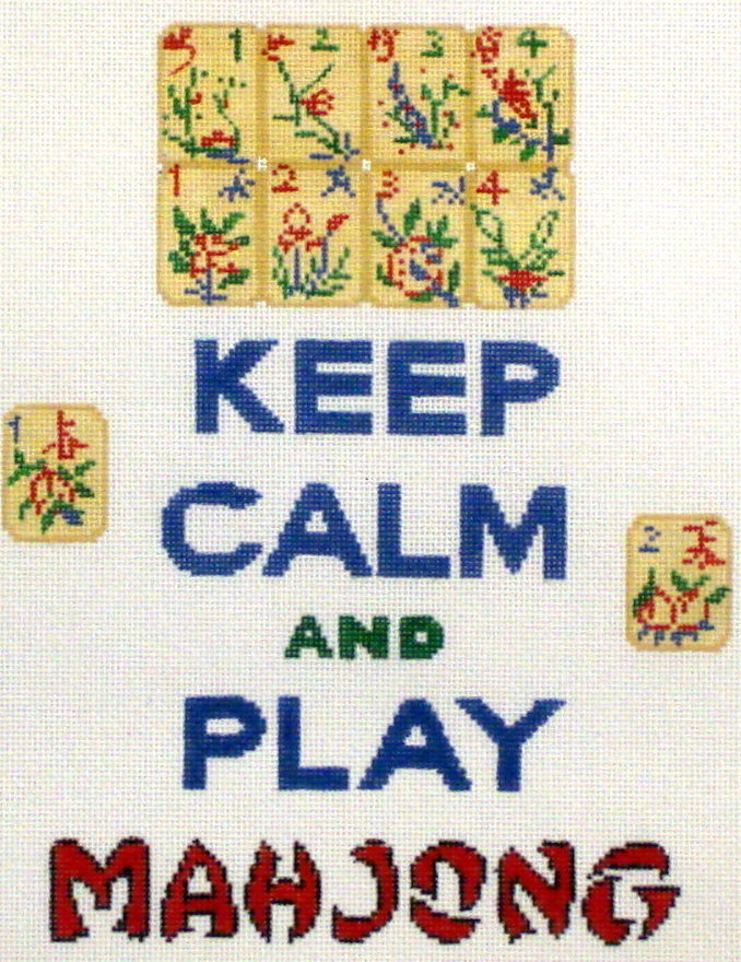 Keep Calm and Play Mahjong   (Hand Painted by Kate Dickerson)