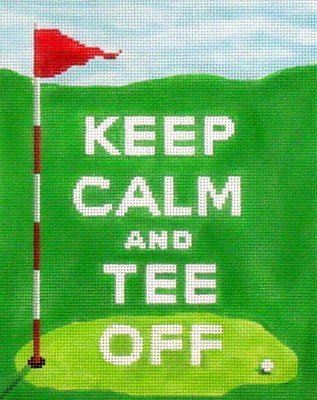 Keep Calm and Tee Off   (Handpainted by Kate Dickerson)