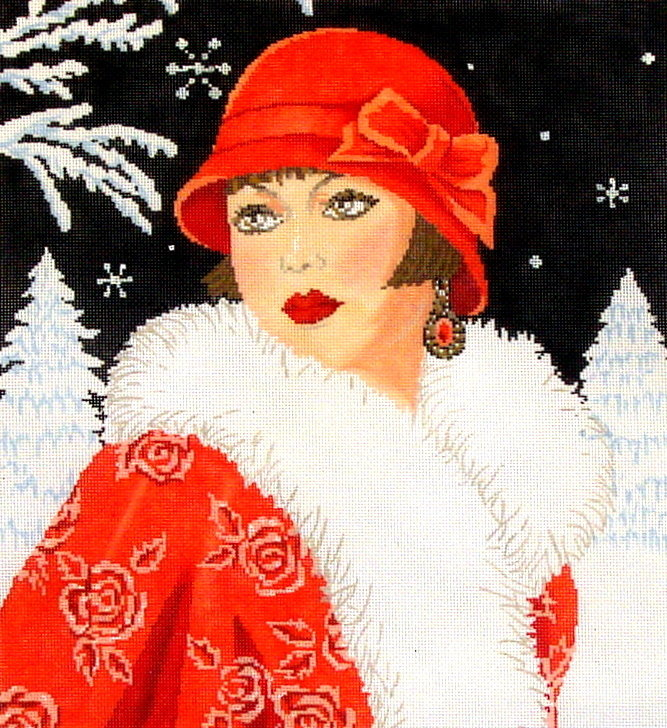Lady Winter, Art Deco    (Hand Painted from Meredith Collection)