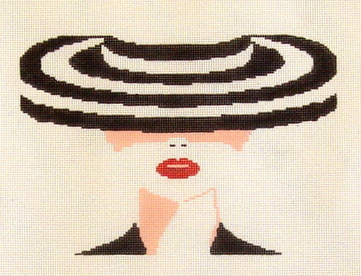 Striped Hat     (Handpainted by Voila)