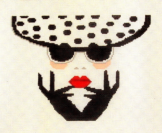 Polka Dot Hat    (Hand Painted by Voila)
