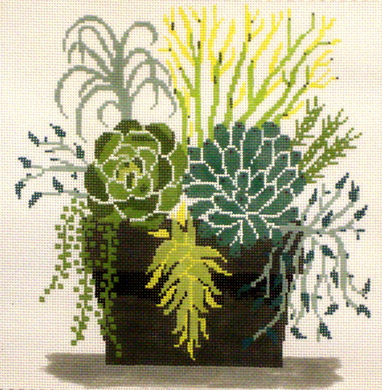 Succulent Pot    (Handpainted from Fleur de Paris)