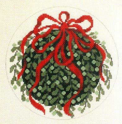Kissing Ball   (handpainted by Julia's Needlework