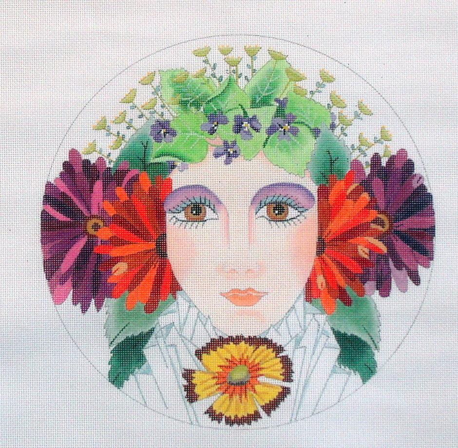 Floral Girl Summer  (handpainted by Dede)