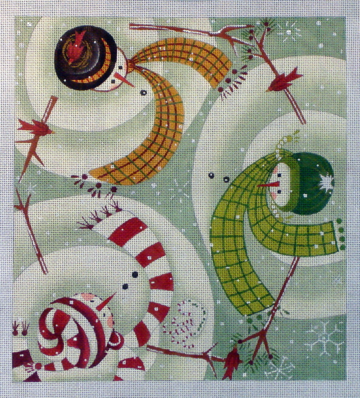 Warm Greetings  (Hand Painted Canvas by Maggie & Company)