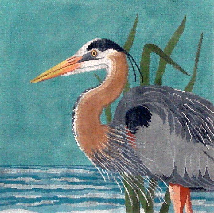 Great Blue Heron   (handpainted by Susan Roberts)