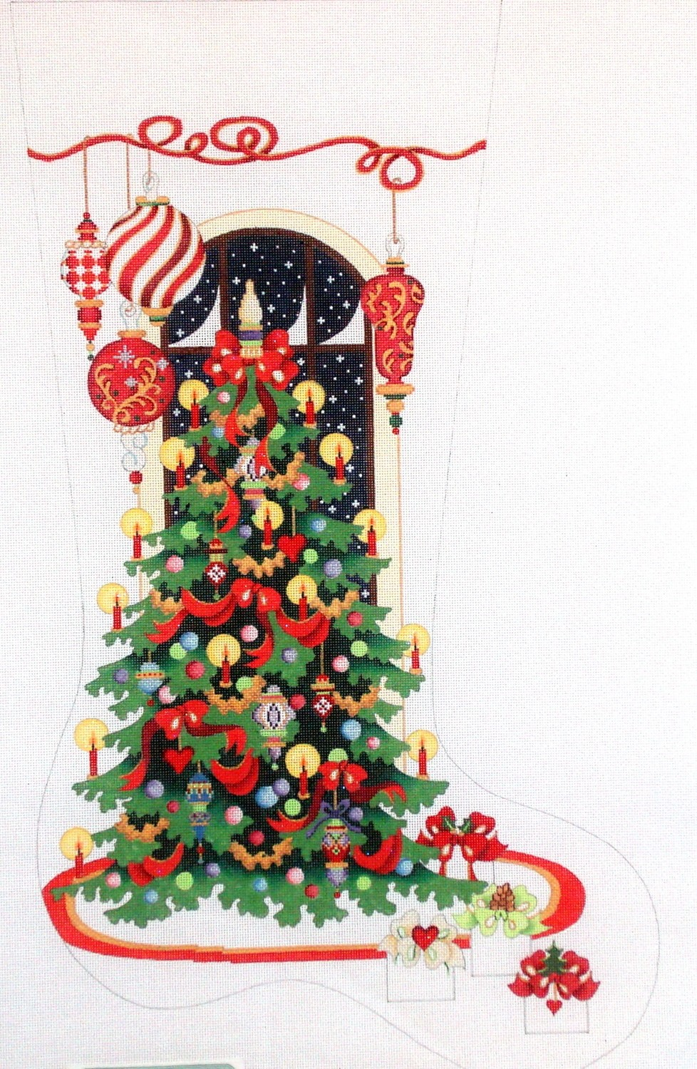 Large Contemporary with Tree       (handpainted  by Strictly Christmas)