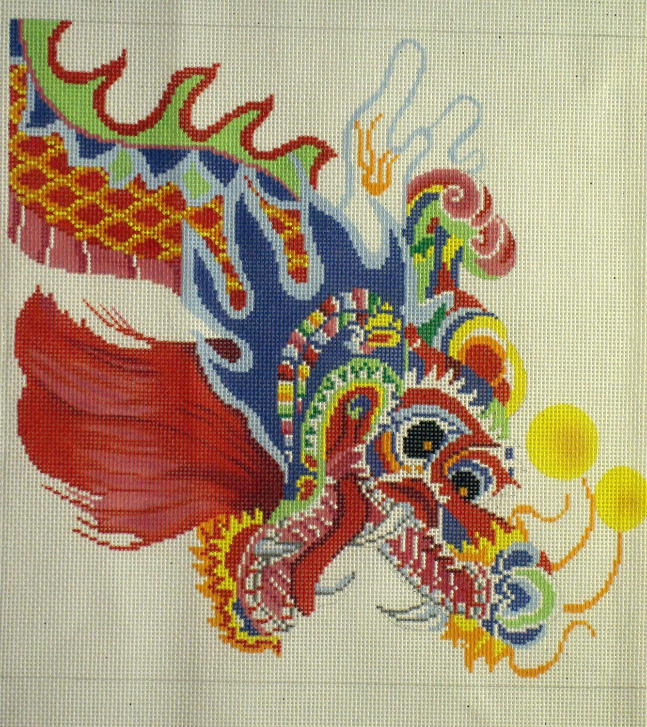 Multicolored Dragon (Handpainted by Lee's Needle Arts)