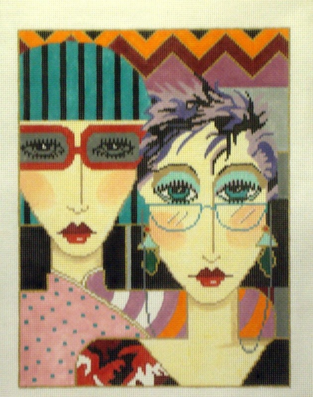 Glasses   (Handpainted by Barbara Russell Designs)