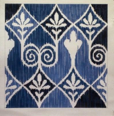Ikat-Irina in Blues   (Julie Mar & Friends Designs)