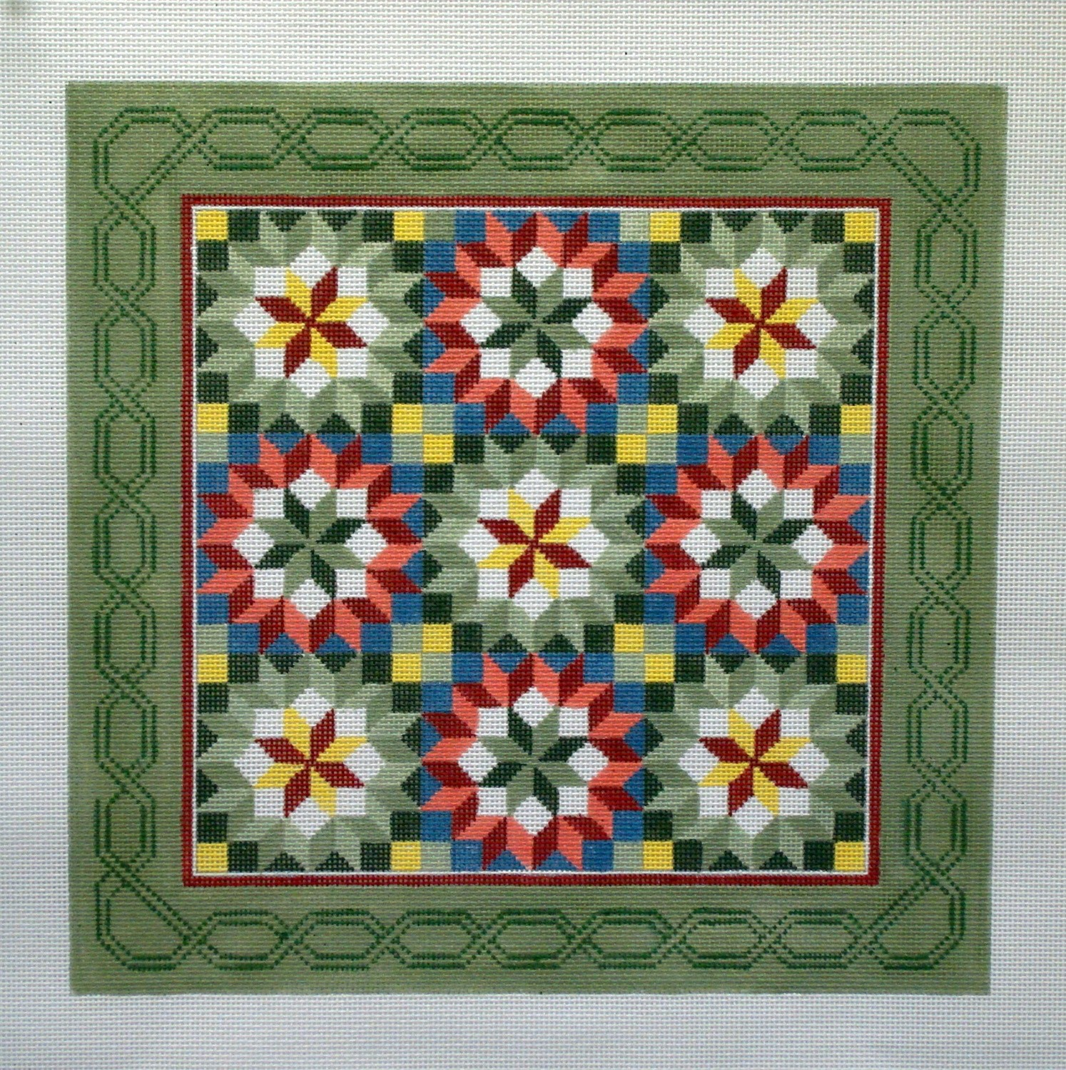 Carpenter's Wheel Quilt   (Hand painted by Susan Roberts Designs)