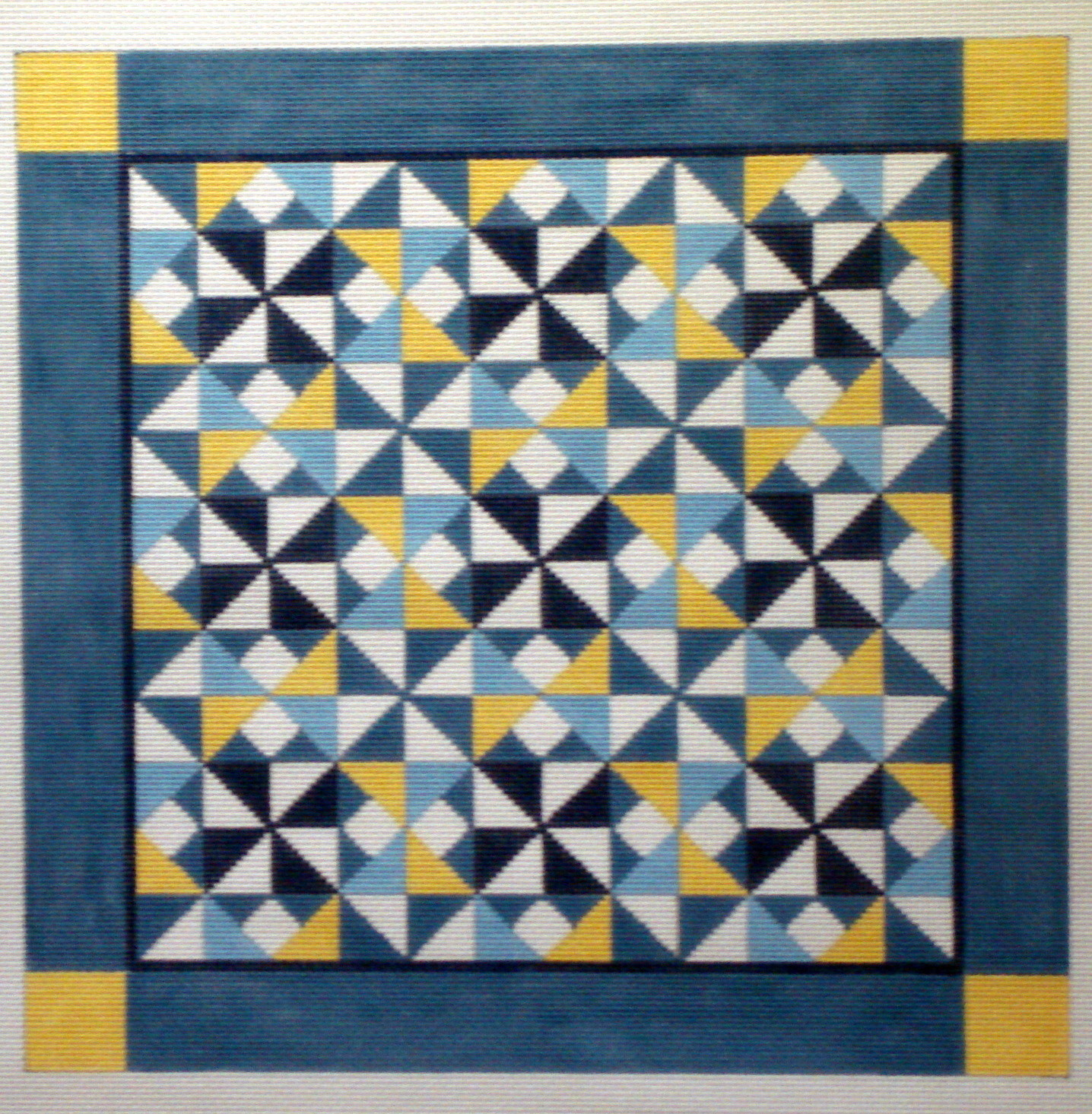 Diamond Pinwheel Quilt   (handpainted by Susan Roberts)