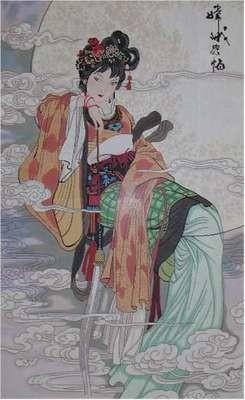 Moon Goddess (Handpainted by Lee's Needle Arts)