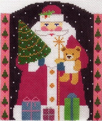 Glitzy Santa (Handpainted by Shelly Tribbey Designs)