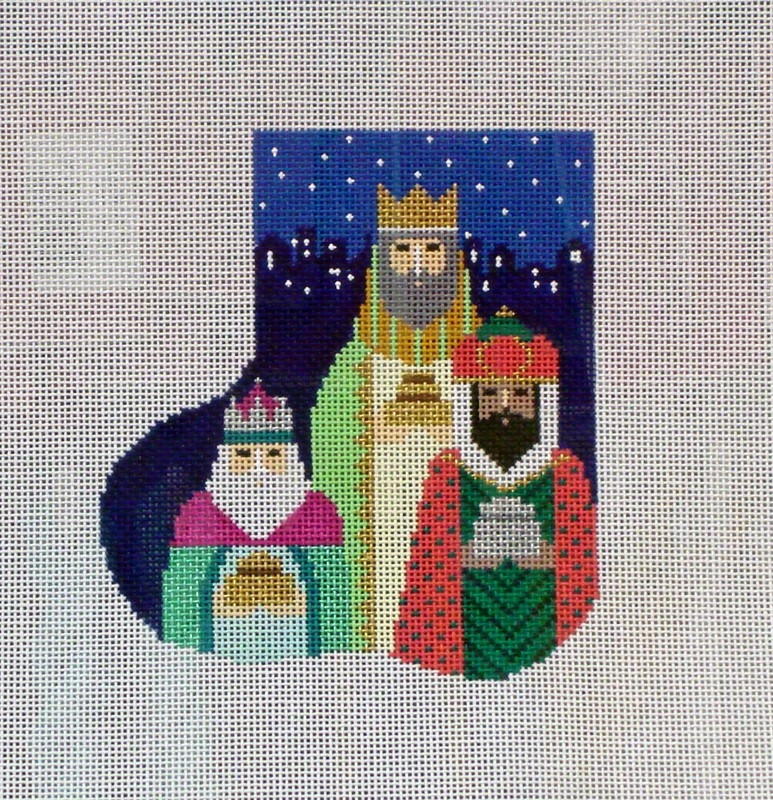 The 3 Kings Mini Sock (Handpainted by Shelly Tribbey Designs)