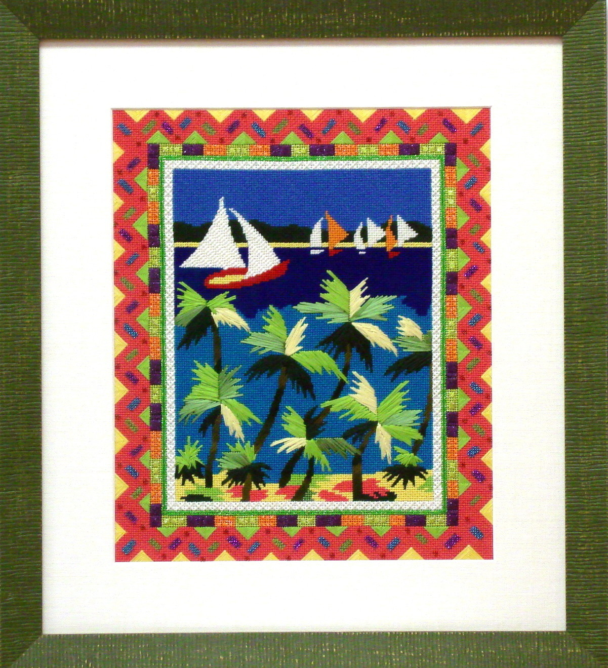 Savvy Sailing  (Model Shown)       (handpainted by Julia's Needlework)