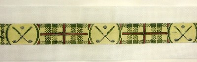 Bobby Jones Olive Golf Belt (Handpainted by Walker Street Designs)