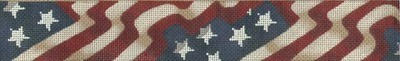 Stars & Stripes Banner Belt   (handpainted by Tapestry Tent)