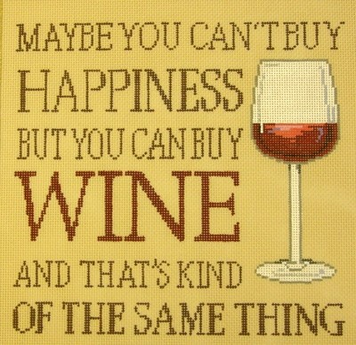 Buy Wine…. (Handpainted by Sandra Gilmore Designs)